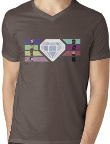 Pixel White Diamond | Community Mens V-Neck T-Shirt