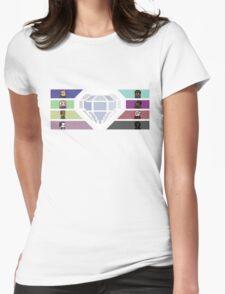Pixel White Diamond   Community Womens Fitted T-Shirt