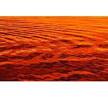 orange sea Photographic Print