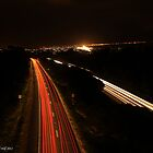 neon nights 002 by Karl David Hill