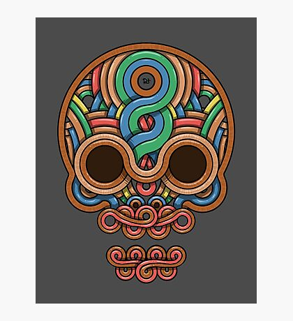 Celtic Skull Photographic Print