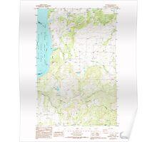 USGS Topo Map Washington State WA Hunters 241622 1985 24000 Poster