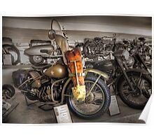 1942 Harley Davidson WLA  Poster