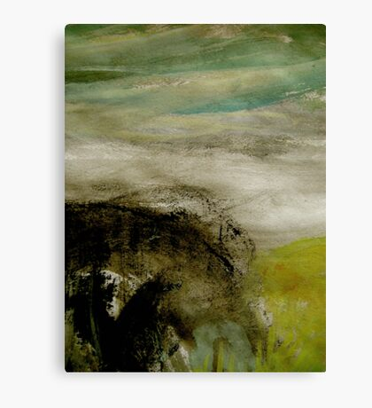 mist over the bluff Canvas Print