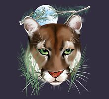 Midnight Mountain Lion Unisex T-Shirt