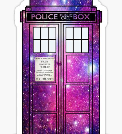 Starry Police Public Call Box. Sticker