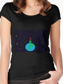 Earth - the garden planet Women's Fitted Scoop T-Shirt