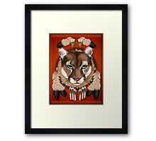 Puma Shield Framed Print