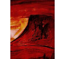 under a red sun.... Photographic Print