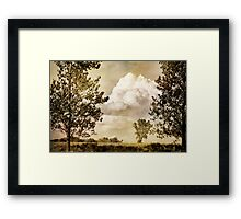 Prairie Clouds Framed Print