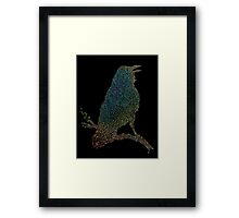 The Iridescent Raven Framed Print