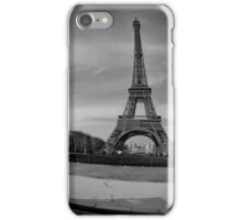 Grey Eiffel Tower iPhone Case/Skin
