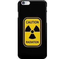 Radioactive Symbol Warning Sign - Radioactivity - Radiation - Yellow & Black - Rectangular iPhone Case/Skin