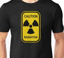 Radioactive Symbol Warning Sign - Radioactivity - Radiation - Yellow & Black - Rectangular Unisex T-Shirt