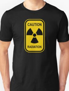 Radioactive Symbol Warning Sign - Radioactivity - Radiation - Yellow & Black - Rectangular T-Shirt