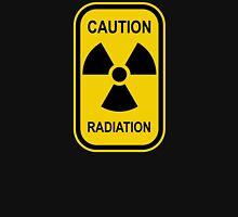 Radioactive Symbol Warning Sign - Radioactivity - Radiation - Yellow & Black - Rectangular Unisex T-Shirt