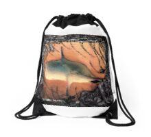 EYE Pumpkin Drawstring Bag