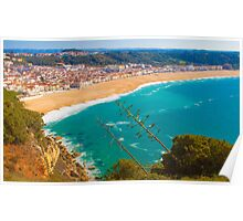 Nazaré beach. where the biggest waves on earth happen. Poster