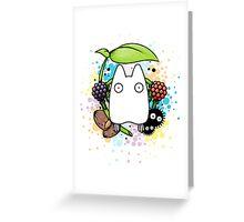 Chibi Totoro Greeting Card