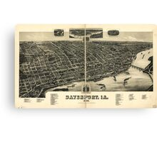 Panoramic Maps Davenport Ia 1888 Canvas Print