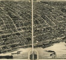Panoramic Maps Davenport Ia 1888 Sticker