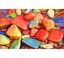 Colorful Stones Photographic Print