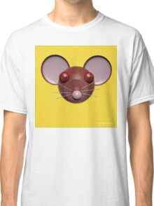 Psychedelic Yellow Mouse Head  Classic T-Shirt