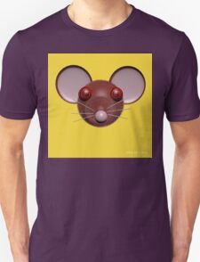 Psychedelic Yellow Mouse Head  Unisex T-Shirt