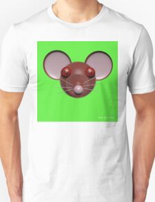 Psychedelic Green Mouse Head  T-Shirt
