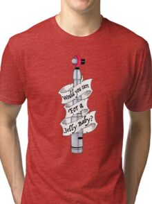 """""""Would You Care For A Jelly Baby?"""" Tri-blend T-Shirt"""