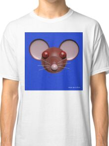 Psychedelic Blue Mouse Head  Classic T-Shirt