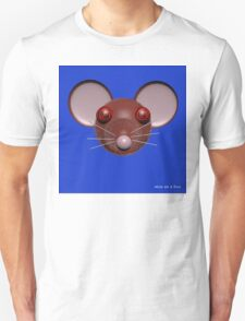 Psychedelic Blue Mouse Head  T-Shirt