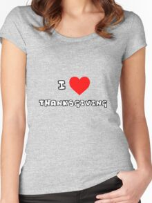 I Heart Thanksgiving Women's Fitted Scoop T-Shirt