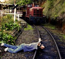 Death wish on the puffing billy line by Gerard Rotse