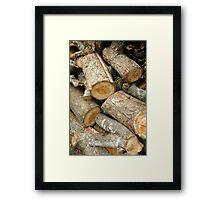 stack of firewood Framed Print