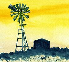Windpump in the Karoo by Elizabeth Kendall