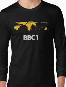 Retro BBC1 world globe ident Long Sleeve T-Shirt