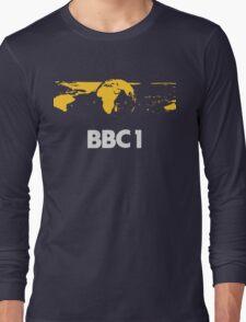 Retro BBC1 world globe ident Long Sleeve T-Shirt
