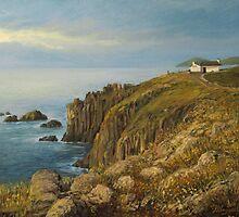 Land's End in Cornwall by kirilart