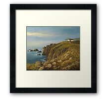 Land's End in Cornwall Framed Print