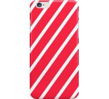 red white stripe iPhone Case/Skin