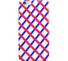 blue red white stripe iPhone Case/Skin