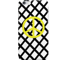 black white stripe peace yellow iPhone Case/Skin