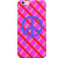 pink red stripe blue peace iPhone Case/Skin