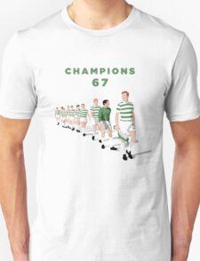 Lisbon Lions - Champions 67 (Green text) Unisex T-Shirt
