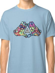 Trippy Illuminati Hands Diamond Classic T-Shirt
