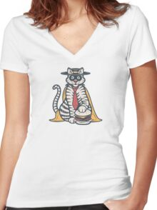 The Cheeze Burglar Women's Fitted V-Neck T-Shirt