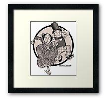 Lovelace and Babbage Leap Framed Print