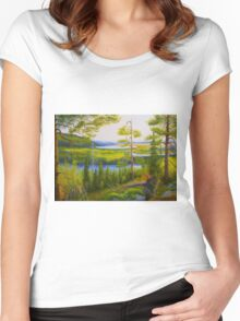 Arctic Wilderness Women's Fitted Scoop T-Shirt
