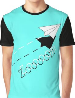 Paper Airplane--Zoooom. Graphic T-Shirt